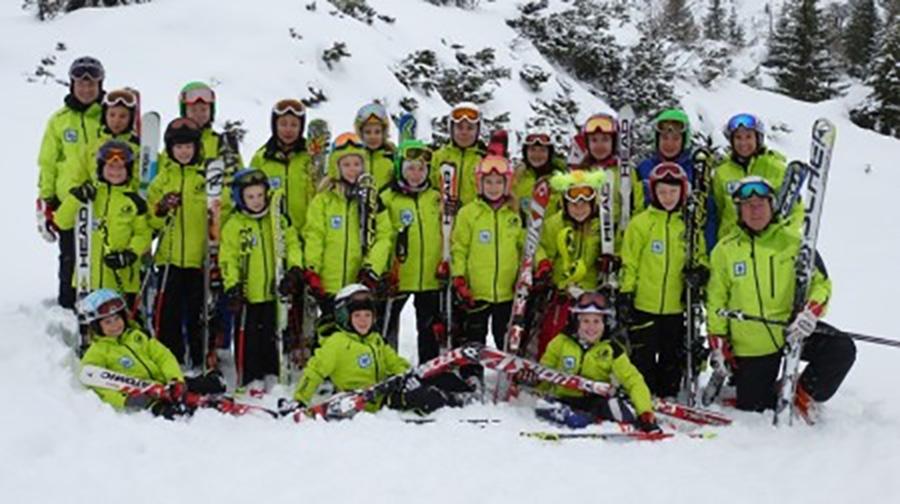 Alpin-Trainingsgruppe auf der Steinplatte